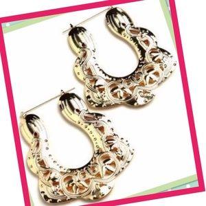 Jewelry - NWT Gold Hip Hop Earrings⚜️💖⚜️💖⚜️